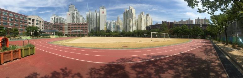 School near my apartment where I go running
