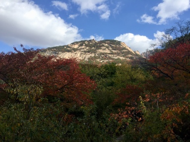 Not Baegundae, but another nice peak in Bukhansan