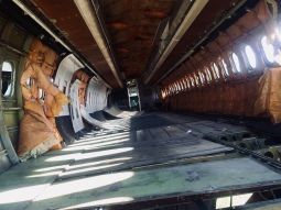 Eerie views inside an abandoned plane