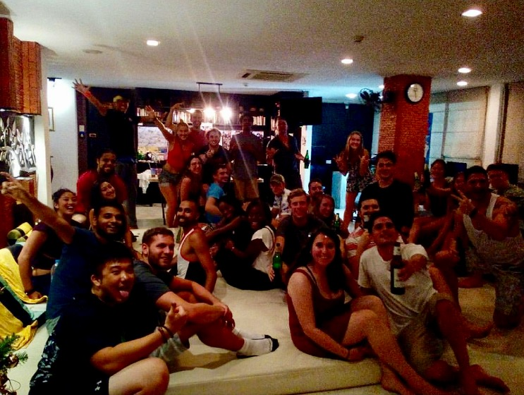 Getting ready to go out on Khao San Road with people I met at NapPark Hostel
