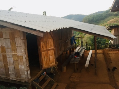 The hut we slept in in the Hill Tribe village
