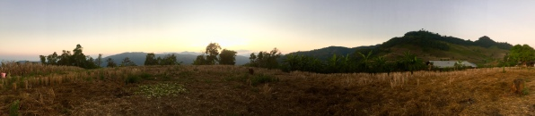 Sunset from the Hill Tribe village
