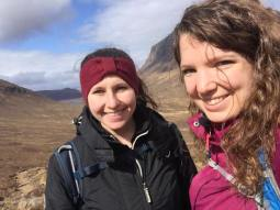 Hiking in Scotland with my friend Jasmin
